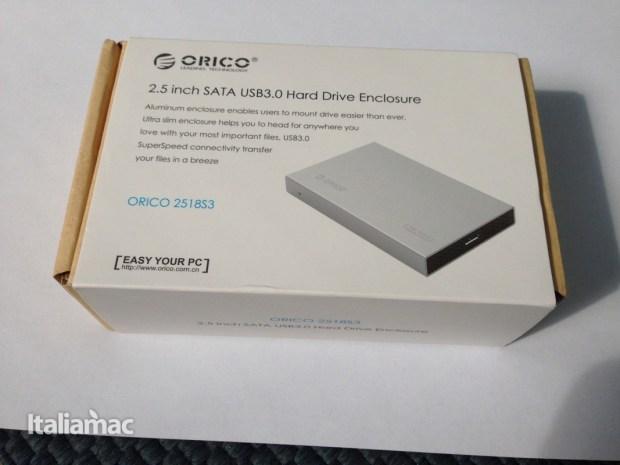 orico 2518s3 3 620x465 Alla prova Orico 2518S3, enclosure per dischi da 2,5