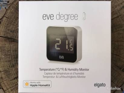 %name Elgato Eve Degree: Monitorare temperatura e umidità con stile