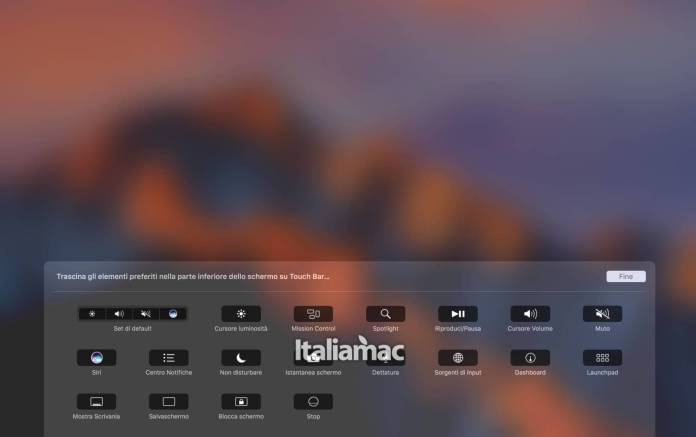 www.italiamac.it www.italiamac.it control strip preferenze Come rimuovere Siri dalla Touch Bar dei MacBook Pro