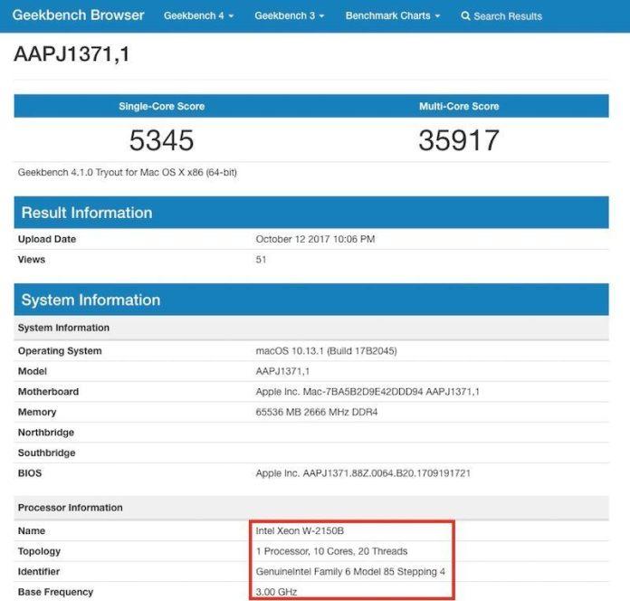www.italiamac.it imac pro con chip xeon appare nei test di geekbench geekbench imac pro 800x763 iMac Pro con chip Xeon appare nei test di Geekbench