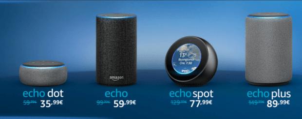 italiamac amazon echo family smart speaker 620x246 Primi prodotti interessanti su Amazon per la settimana del Black Friday