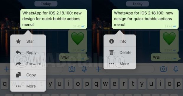 italiamac bubbleactionioswa 620x324 WhatsApp per iPhone in futuro avrà la modalità Dark