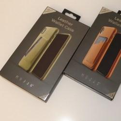 Mujjo custodia in vera pelle per iPhone XS Max e iPhone XR