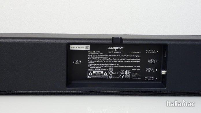 italiamac p1010301 Soundcore Infini la soundbar potente con subwoofer integrati