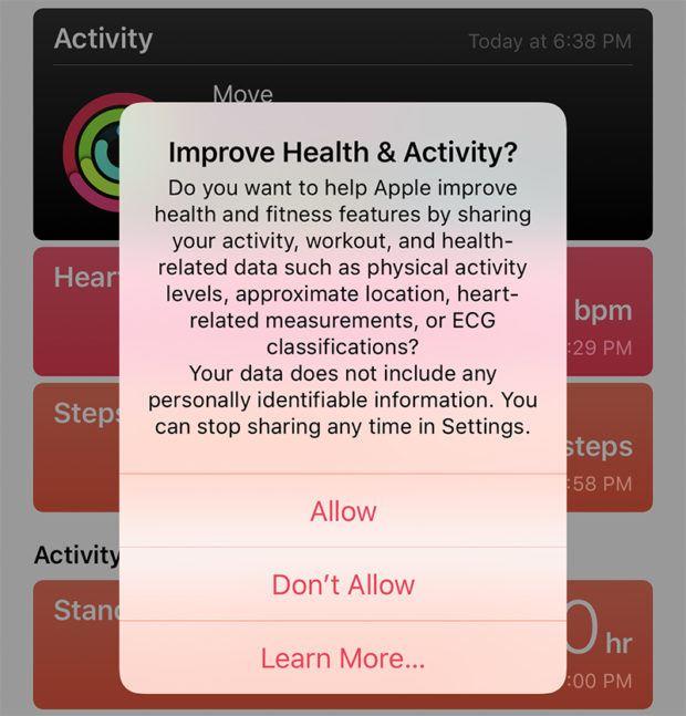 italiamac ios 12 1 1 ecg 620x647 Apple rilascia iOS 12.1.1 con supporto eSIM, FaceTime con Live Photo, Haptic Touch per notifiche su iPhone XR e altro
