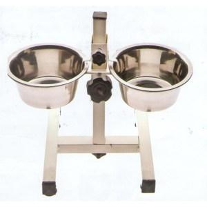 ferribiella-alza-ciotole-inox-laccato-completo-con-ciotole-cod-cin-591