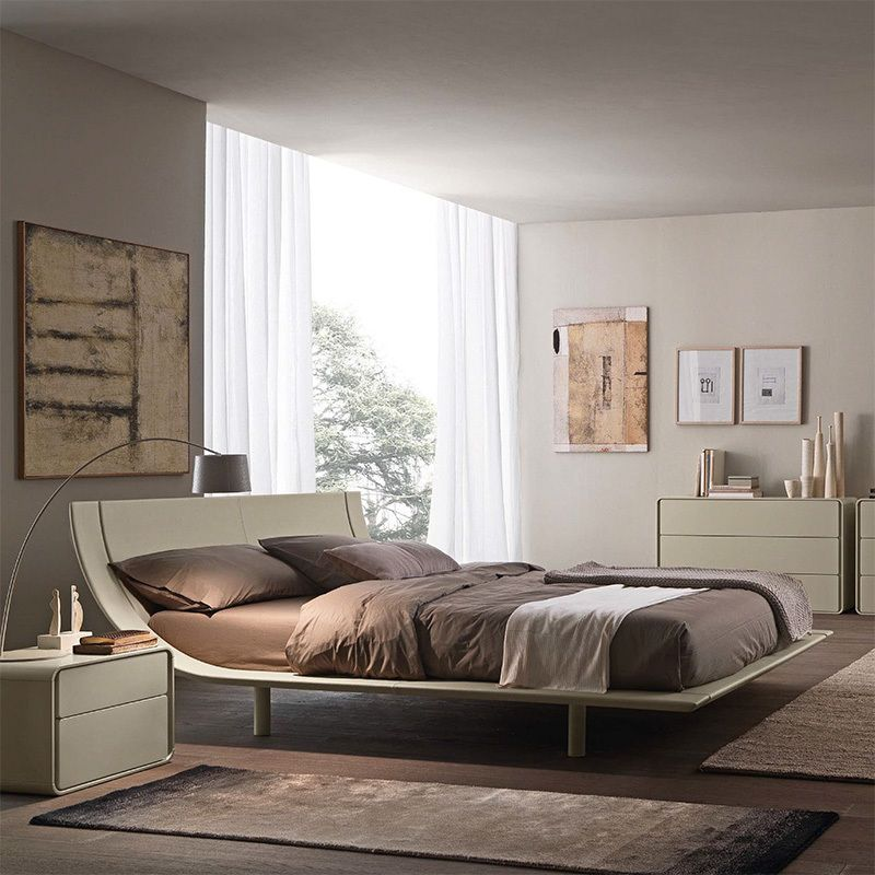 Aqua Upholstered Bed Beds Bedroom Presotto Modern