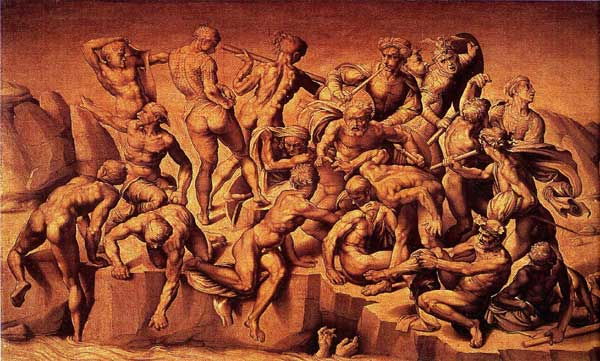 The Battle of Cascina by Michelangelo Battle Of Cascina