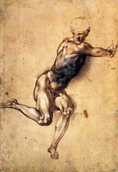 Figure study for the battle of Michelangelo Battle Of Cascina