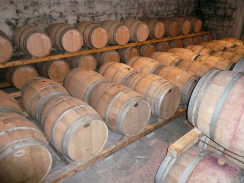 ラ・カステッラーダ醸造所の内部