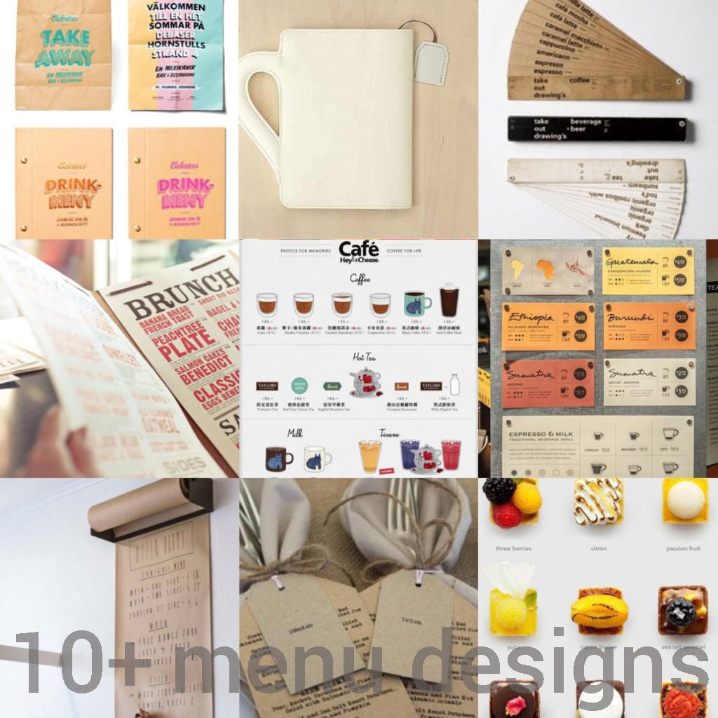 10+ Menu Design Ideas