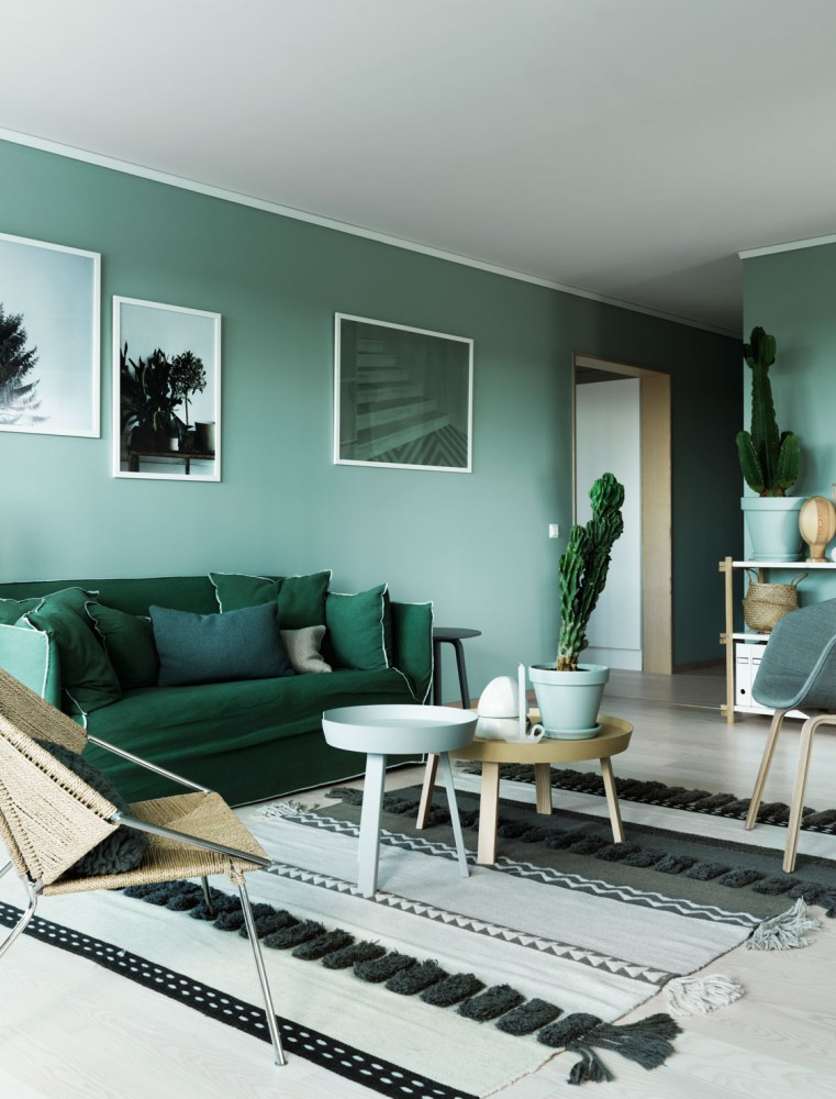 Green wall paint interior trend italianbark for Paints for interior walls