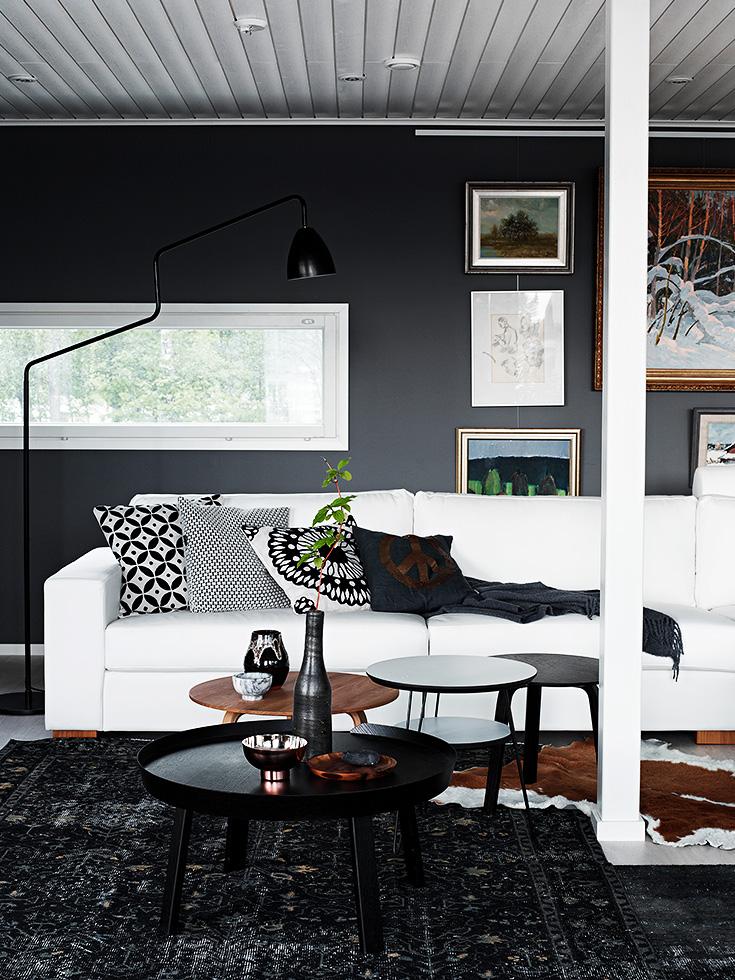 finnish home interior, finland home decor, wall gallery, black wall decor, gallery wall idea,