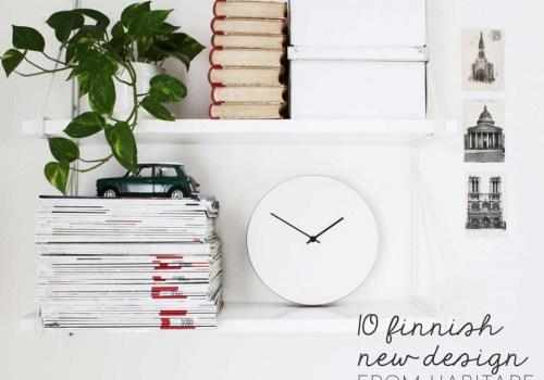Finnish design news, design finds, finnish design, habitare helsinki, habitare 2016, scandinavian design 2016, white clock, minimal wall clock, minimal white clock