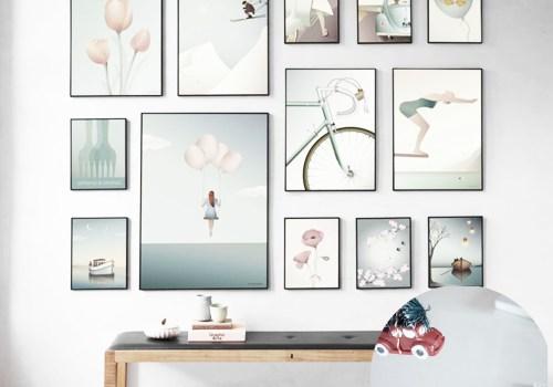 vissevasse, scandinavian prints, vintage style frames, pastel prints, italianbark interior design blog, gallery wall