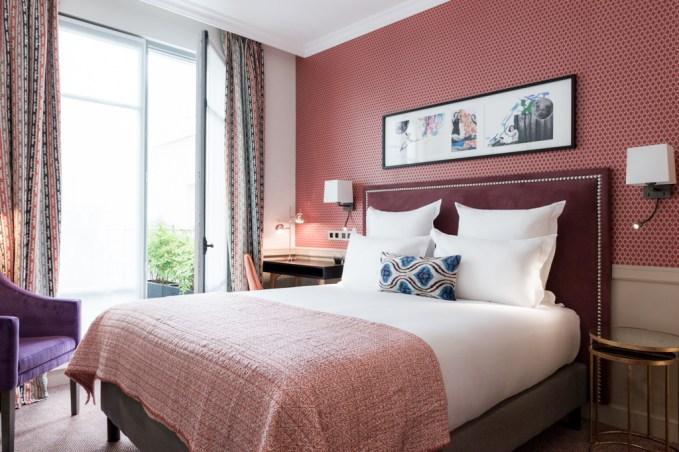 boutique hotel paris, adele et jules, italianbark interior design blog, hotel bedroom , colourful hotel bedroom