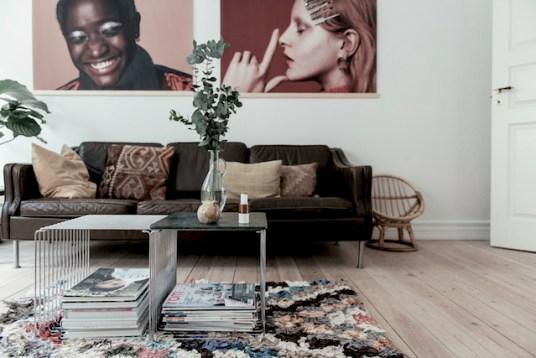 scandi boho apartment, scandi boho living, boucheroite rug