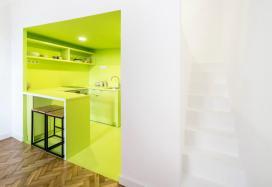compact staircases design, small spaces ideas, small interiors, italianbark interior design blog, white interior, lime design