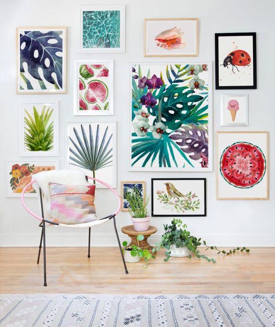 italianbark interior design blog, tropical decor, gallery wall