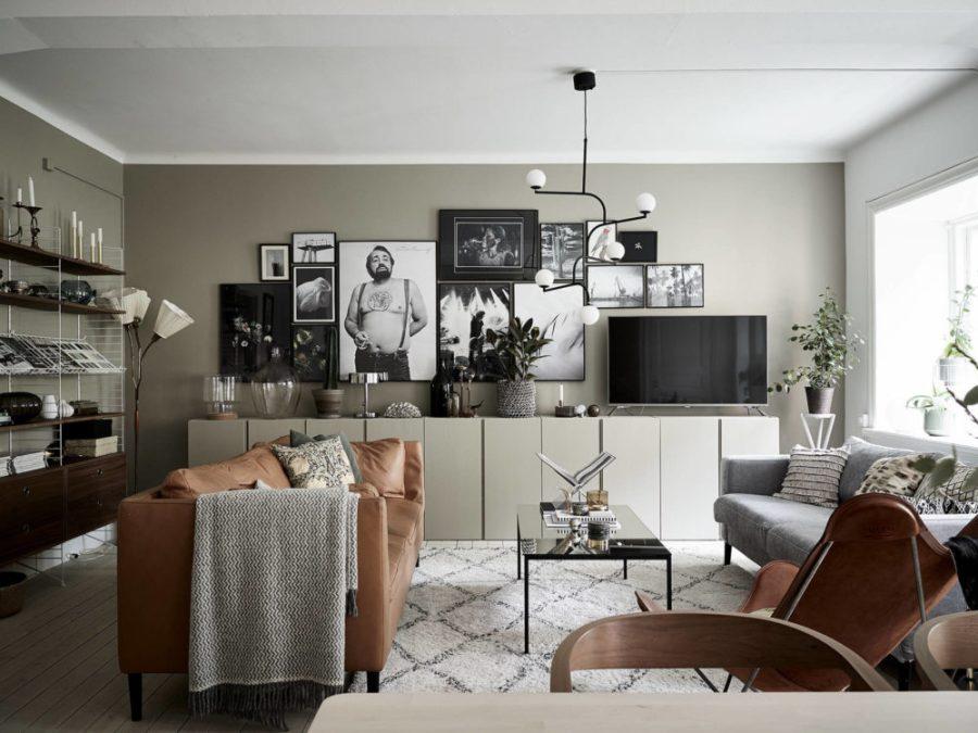 autumn interior, olive green decor, green wall paint, living room scandinavian style, italianbark interior design blog