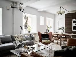 autumn interior, olive green decor, green wall paint, living room scandinavian style, italianbark interior design blog, butterfly leather chair