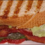 Bacon, Lettuce, Tomato and Basil Panini