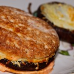 Grilled Portobello & Cheese Melts with Smoky Red Pepper Mayo
