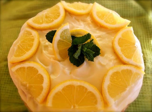 Lemon Layer Cake with Limoncello Icing