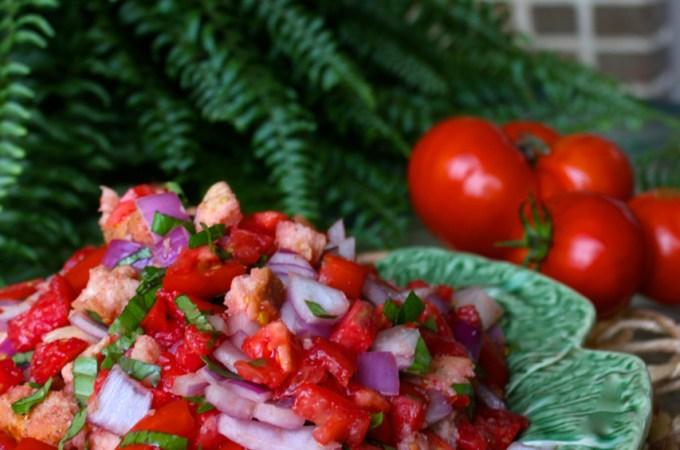 panzanella tuscan tomato and bread salad