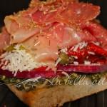Mediterranean Prosciutto, Red Pepper, and Pesto Panini