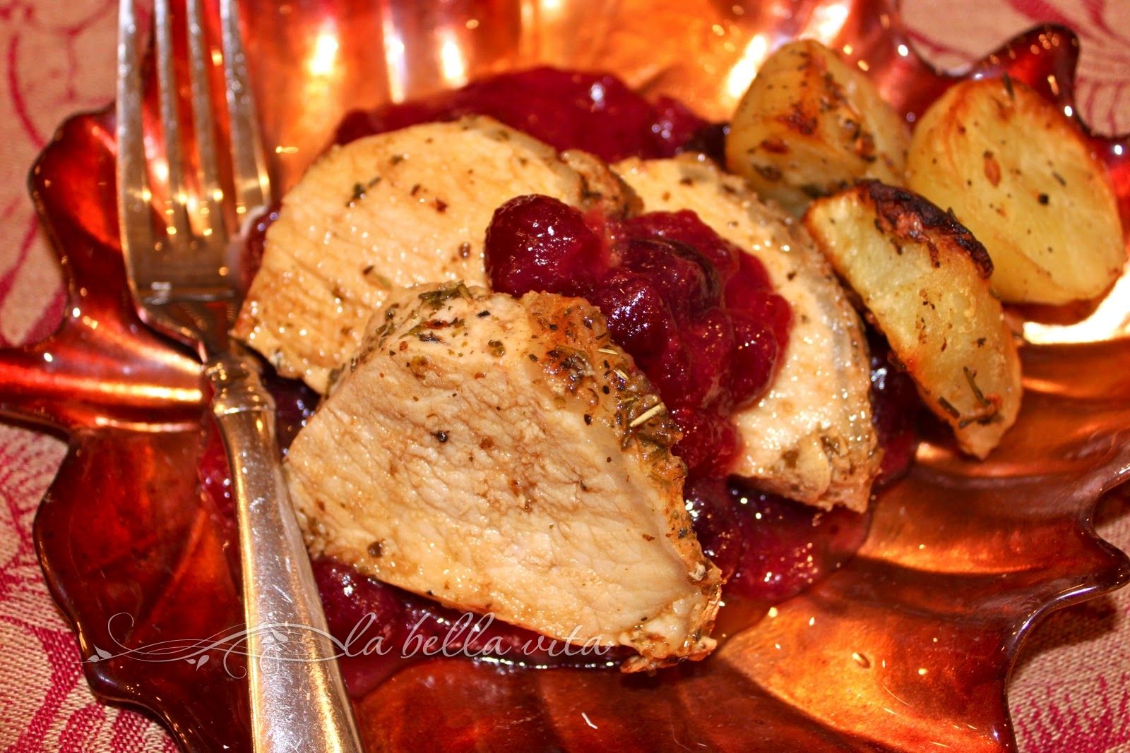 Pork Tenderloin with Dijon Cranberry Sauce - La Bella Vita ...