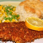 Panko and Italian Herb~Crusted Perch Filets