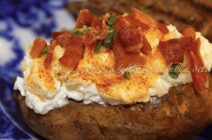 Twiced Baked Potatoes with Fontina Cheese