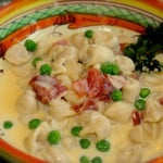 Tortellini alla Panna with Prosciutto and Peas