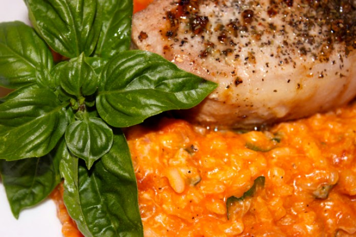 risotto with tomatoes and basil
