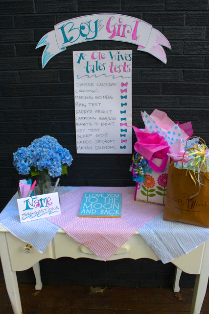 Baby Shower And Gender Reveal Party Ideas On La Bella Vita