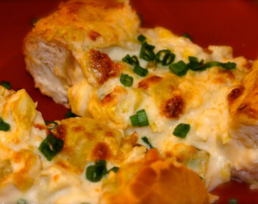 Cheesy Artichoke and Garlic Bread