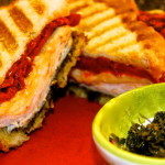 Smoked Turkey Panini with Roasted Red Peppers & Basil Pesto