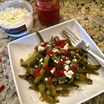 Fresh Italian Green Bean Salad and A Kitchen Garden