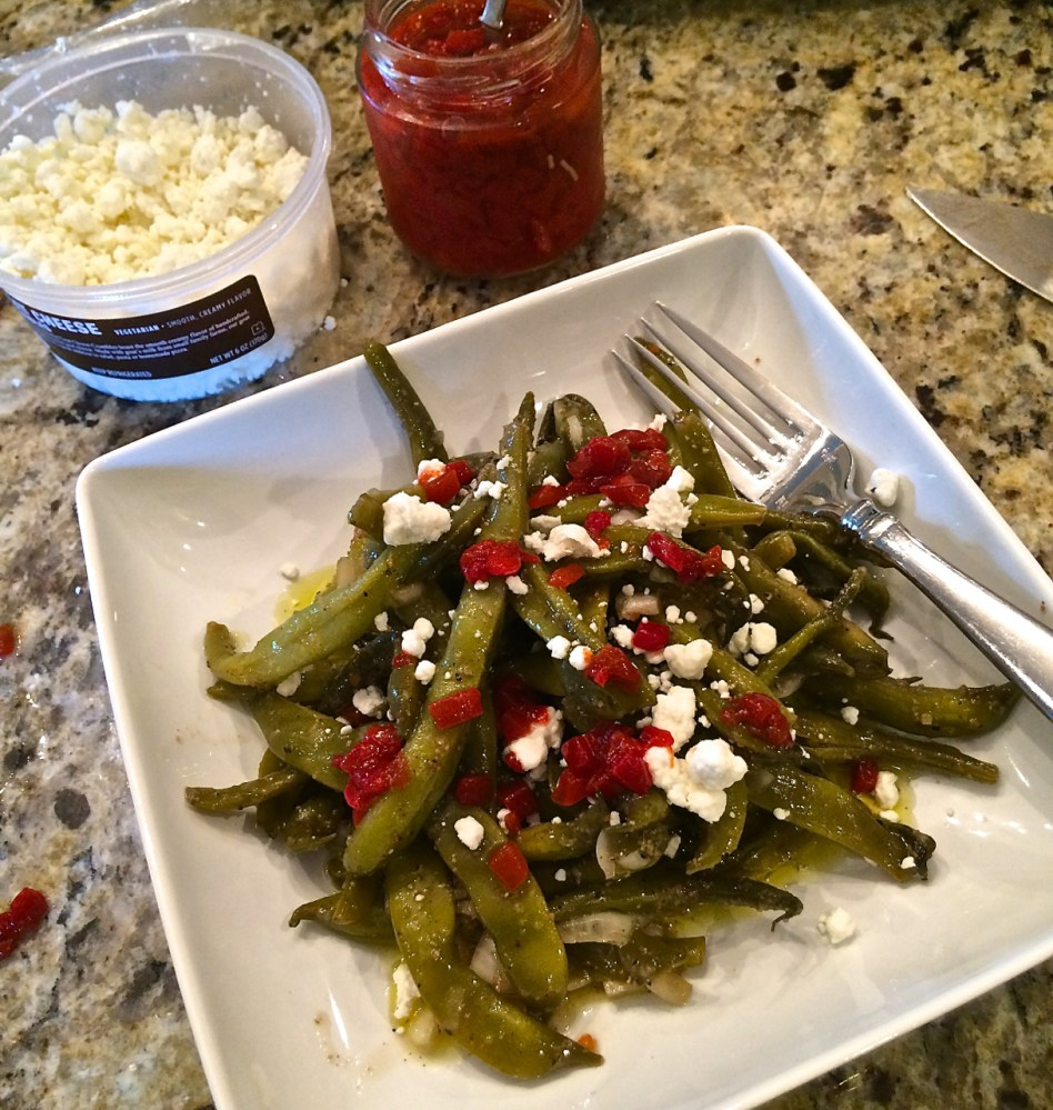 fresh Italian green bean salad