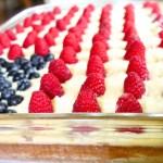 U.S.A. Stars and Stripes Flag Cake