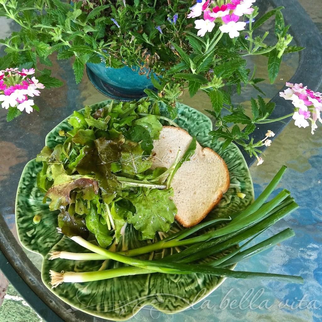 looseleaf lettuce salad