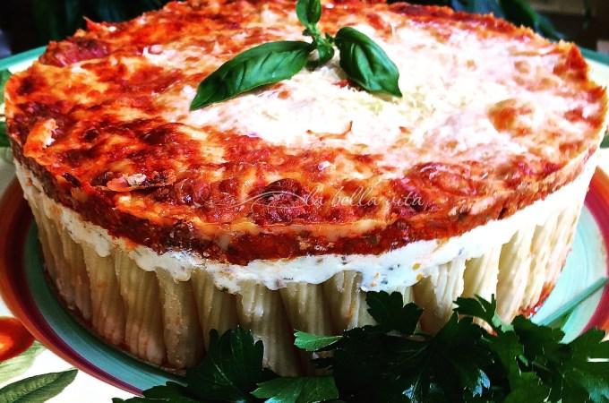 Cheesy Italian Rigatoni Torta