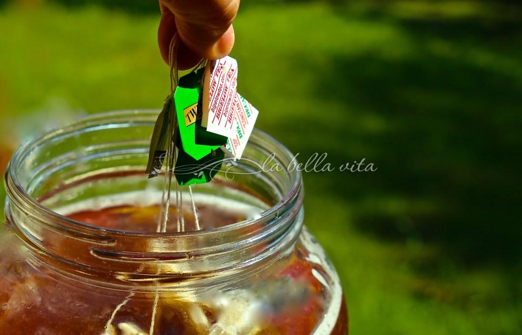 healthy peach green tea