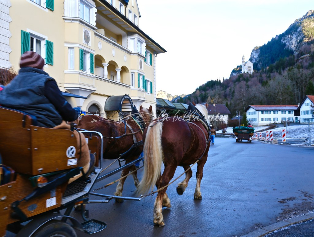 we chose to take a horse drawn carriage to the top of the mountainside (you can see the castle directly in front on the right hand side of this photo)