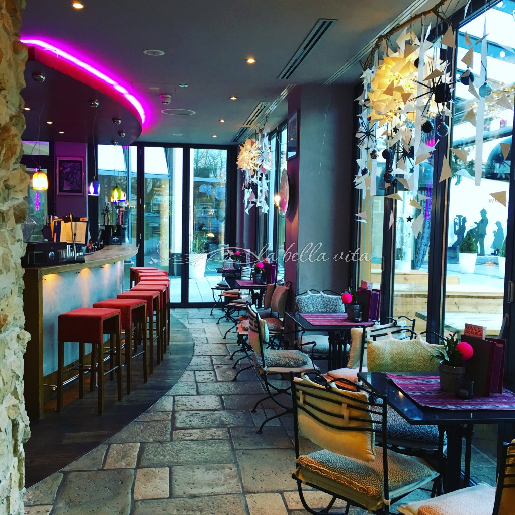 Upon entry to this lovely hotel and the reception area, a contemporary cafe/bar invites you to sit a spell!
