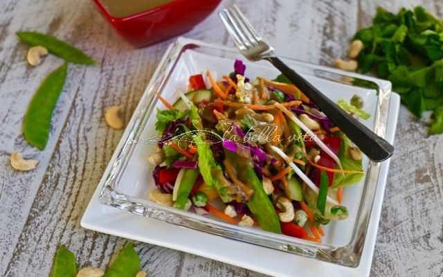 Crunchy Chopped Thai Salad with Peanut Dressing