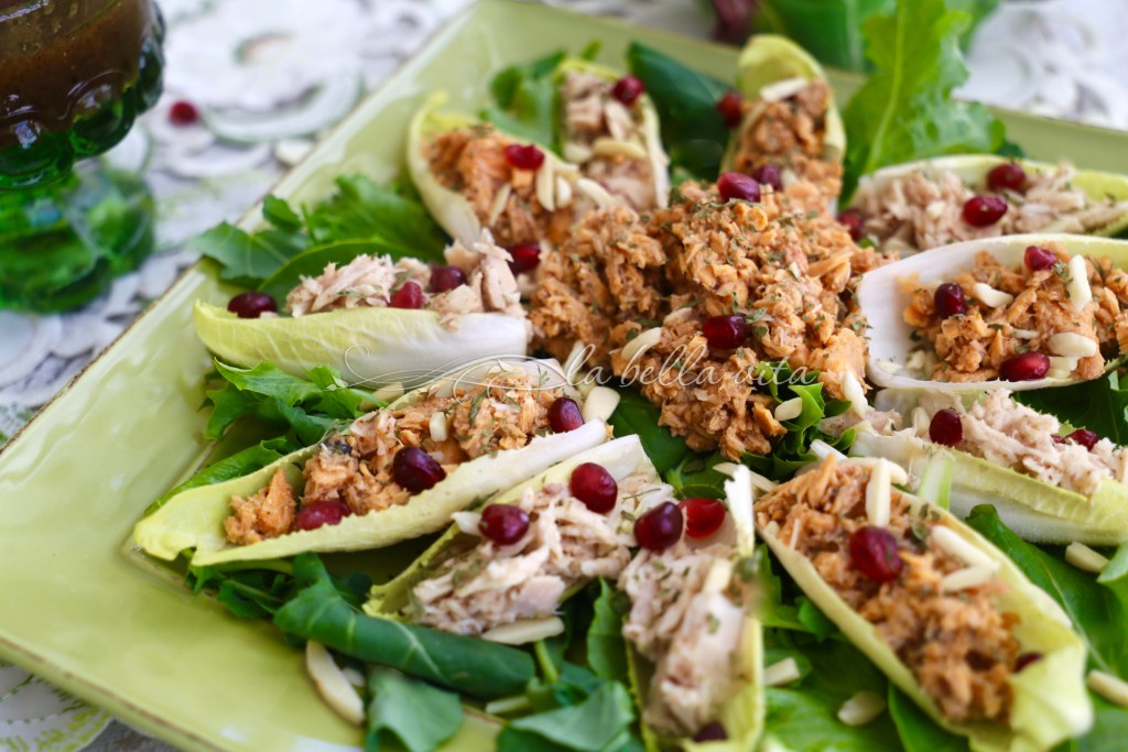 Belgian Endive Boats with Salmon and Tuna Salad