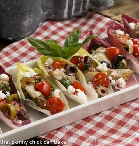 Belgian Endive Bites with Salmon and Tuna Salad - La Bella ...