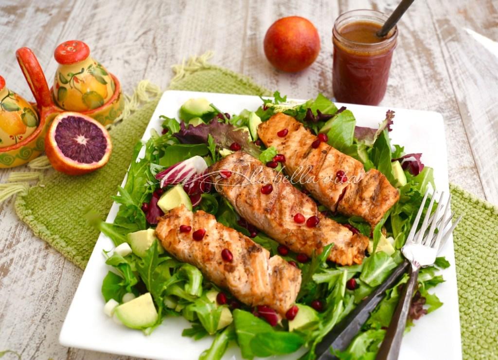 Blood Orange and Salmon Salad with Blood Orange Vinaigrette